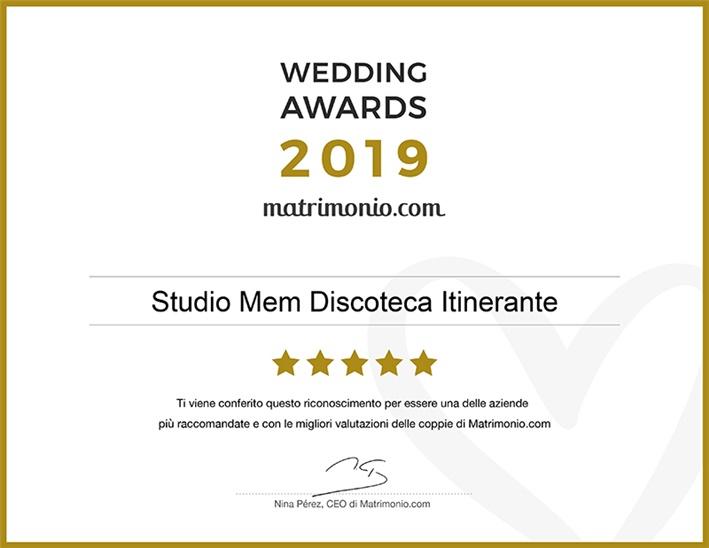 Studio MEM vincitore del Wedding Awards 2019