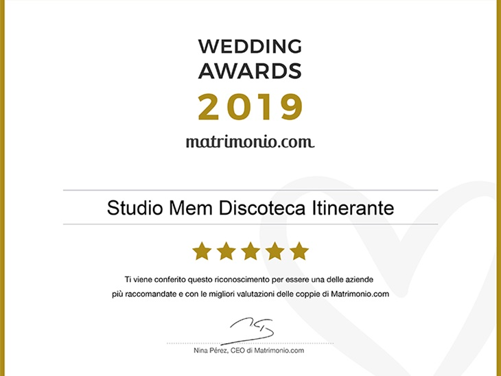 Leggi news | Studio MEM vincitore del Wedding Awards 2019